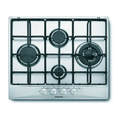 Glem Gas Hob 4 Gas Burners 60cm Stainless: GT645GIX