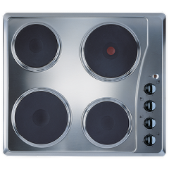 Ariston Built-In Electric Hob 4 Plates 60cm Stainless Steel: HT60XA