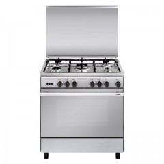 Glem Gas Cooker Unica 5 Gas Burners 80cm Stainless UN8612RIFSG