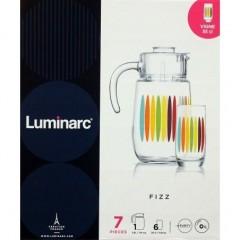 Luminarc FIZZ Drinking Set 7 Pieces: N8425