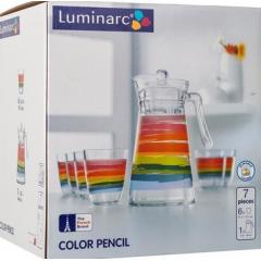 LUMINARC COLOR PENCIL Drinking Set 7 Pieces: CP7070