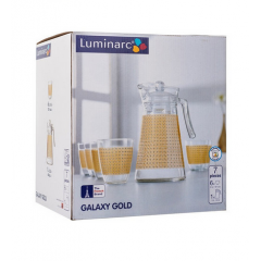LUMINARC GALAXY GOLD Drinking Set 7 Pieces: GG7070
