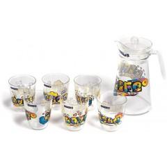 LUMINARC LIFE FIESTA Drinking Set 7 Pieces: LF770