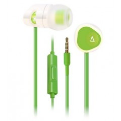 Creative In-Ear Headphones with 8mm Driver and Universal Mic Green MA-200