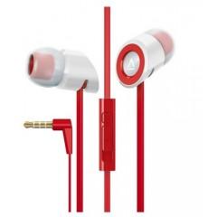 كرييتف سماعة أذن مع مايكروفون و تحكم بمستوى الصوت لون أحمر MA-350
