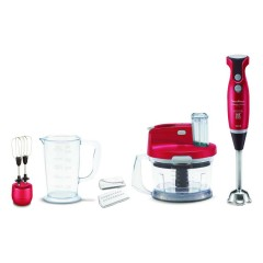 Moulinex Hand Blender Slimforce 1000W, 4 Blades, Whisk, Chopper DD2035EG