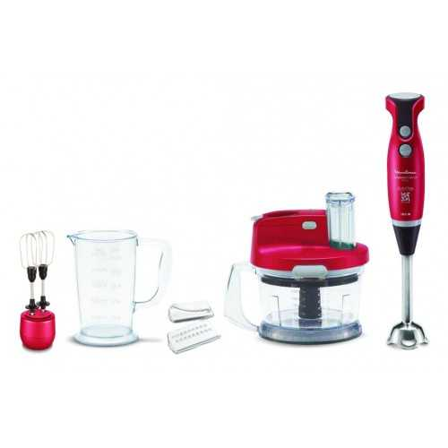 Moulinex Hand Blender Slimforce 1000W, 4 Blades, Whisk, Chopper: DD2035EG
