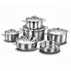 KORKMAZ ALFA XL Kitchen Pot 11 Pieces Stainless Steel: A1641