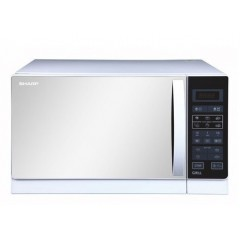 Sharp Microwave 25 Liter With Grill White Color: R-75MR(W)