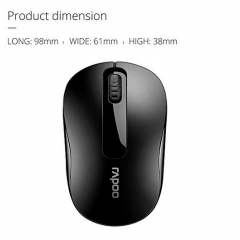 Rapoo Wireless Mouse with Nano Receiver Black Color: M10