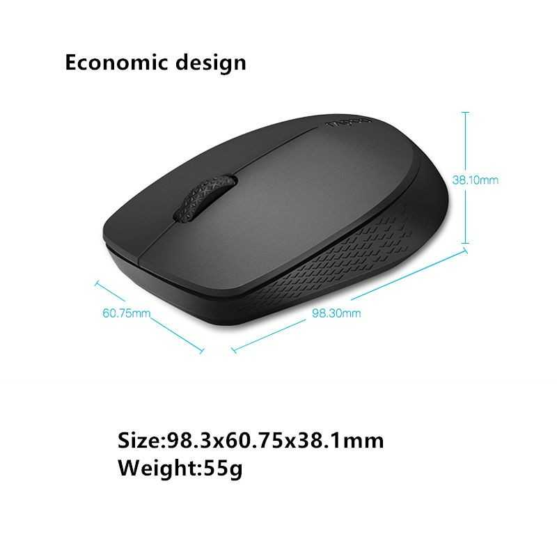 Rapoo Multi-mode Wireless Mouse Black Color 1300 DPI tracking engine ...