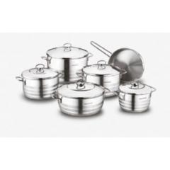 KORKMAZ ASTRA Kitchen Pot 11 Pieces Stainless Steel: A1090