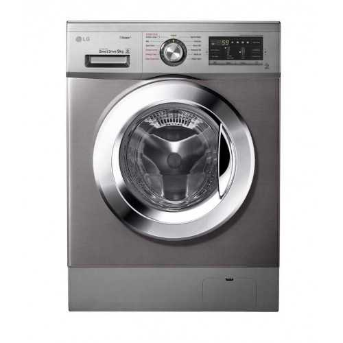 LG Washing Machine 9 Kg Direct Drive 6 Motions Steam With 5 Kg Dryer Silver Stone FH4G6VDGG6