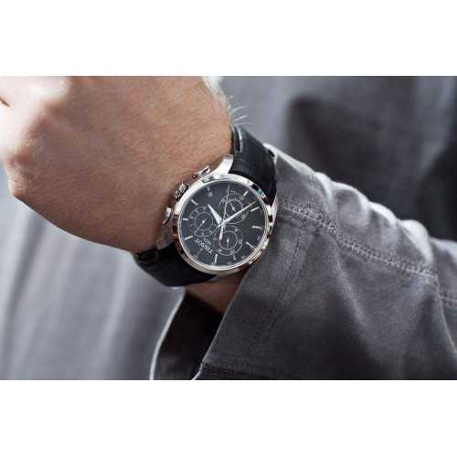 7b79ca724 سعر و مواصفات تيسوت ساعة رجالي كرونوجراف جلد اسود T035.617.16.051 ...