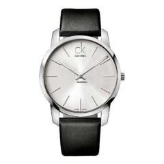 CALVIN KLEIN City Men's Watch Silver Dial Leather K2G211C6