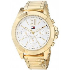 TOMMY Hilfiger Women's Watch Stainless Steel Gold Chronograph T178.1848