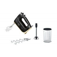 Bosch Hand Mixer 450 Watt 5 Speeds Black and Gold MFQ36GOLD