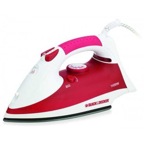 Black & Decker Steam Iron 1400 Watt Red X750R
