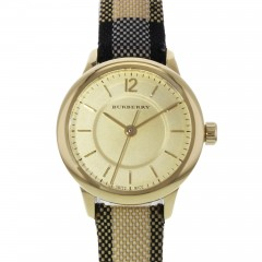 Burberry Women's Watch Leather Band diameter 26 mm Gold Dial BU10201