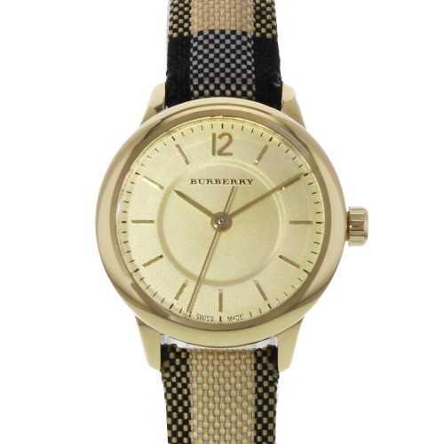 Burberry Women's Watch Leather Band diameter 26 mm Gold Dial BU10201