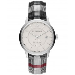 Burberry Men's Watch Leather Band diameter40 mm Silver Dial BU10002