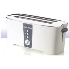 Black & Decker 4 Slice Toaster 1350 Watt White ET124