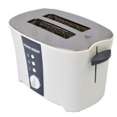 Black & Decker 2 Slice Toaster 800 Watt White ET122