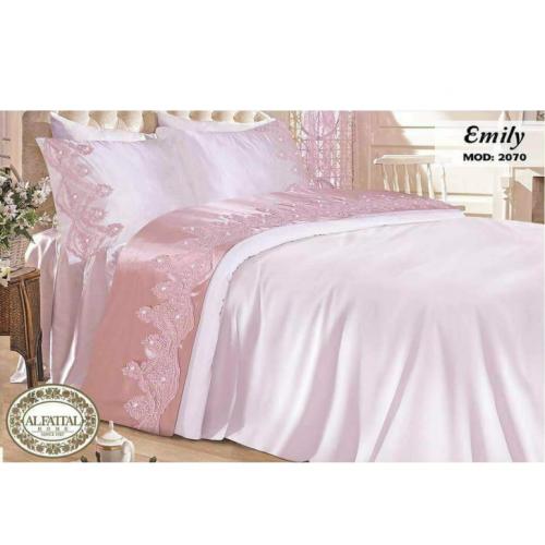 Al-FATTAL EMILY bedsheet Size 240cm*250 cm Embroidered B-2070