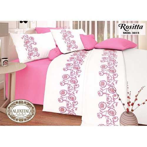 AL-FATTAL ROSITTA Bed sheet Size 240cm*250 cm Embroidered Set 5 Pieces B-3015