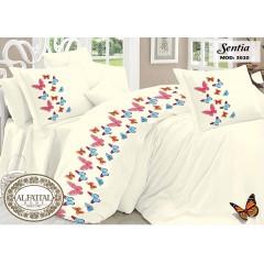 الفتال سنتيا طقم ملاية سرير مطرزه مقاس 240سم *250 سم 5 قطع B-3020