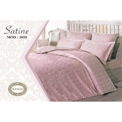 AL-FATTAL SATINE Bed sheet Jacquard Size 240cm*250 cm Set 3 Pieces B-1010