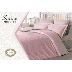 SATINE Bed sheet Jacquard Size 240cm*250 cm Set 3 Pieces B-1010