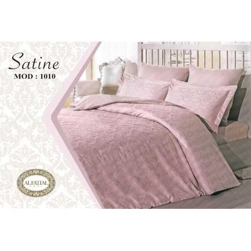 AL-FATTAL SATINE Bed sheet Jacquard Size 240cm*250 cm Set 3 Pieces B-1010