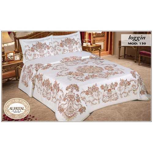 AL-FATTAL LOGGIN Bedspread jacquard tableau Size 240cm*250 cm Set 3 Pieces B-130
