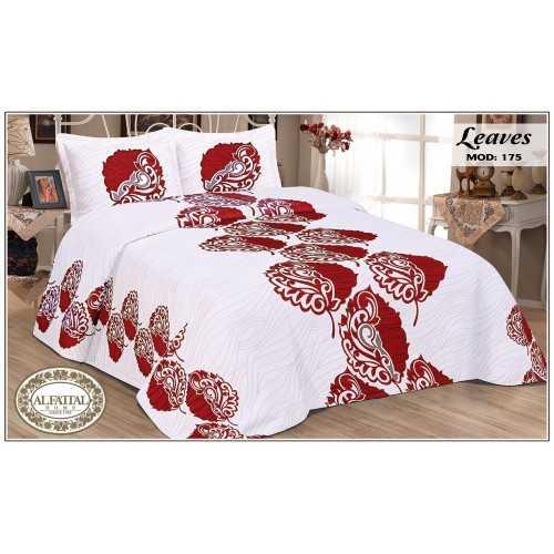 AL-FATTAL LEAVES Bedspread jacquard Size 240cm*250 cm Set 3 Pieces B-175