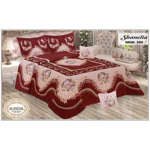 AL-FATTAL SHANELIA Bedspread Jacquard Joplin Tableau Size 240cm*250 Set 5 Pieces B-200