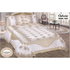 Embroidered MAKARNA THREAD Bedcover Set Satin 4 Pieces ODSSIA