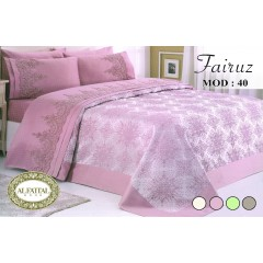 AL-FATTAL FAIROUZ Bedspread Jacquard Size 240cm*250 Set 6 Pieces B-40