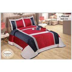 ASHWAK Bedspread Kadife Size 240cm*250 Set 4 Pieces B-210
