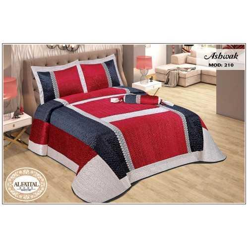 AL-FATTAL ASHWAK Bedspread Kadife Size 240cm*250 Set 4 Pieces B-210