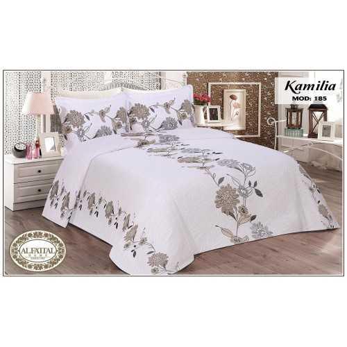 AL-FATTAL KAMILIA Bedspread Jacquard Joplin Tableau Size 240cm*250 Set 3 Pieces B-185