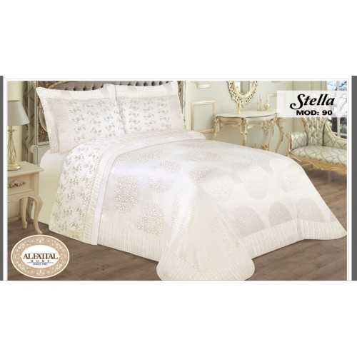 AL-FATTAL STELLA Bedspread Jacquard Size 240cm*250 Set 6 Pieces B-90