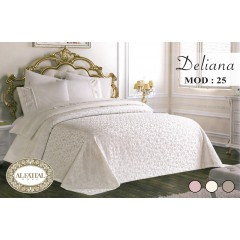 DELIANA Bedspread Embroidered Jacquard Size 240 cm*250 Set 6 Pieces B-25