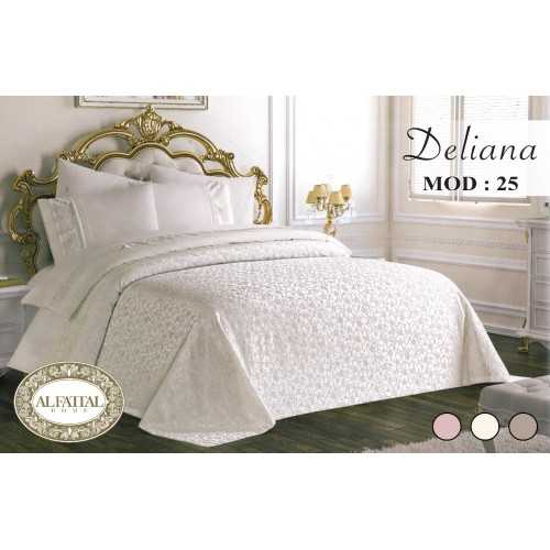 AL-FATTAL DELIANA Bedspread Embroidered Jacquard Size 240 cm*250 Set 6 Pieces B-25
