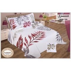 SPANISH Quilt Cotton Jacquard Filled of Fiber Size 240 cm*250 Set 5 Pieces Q150/1