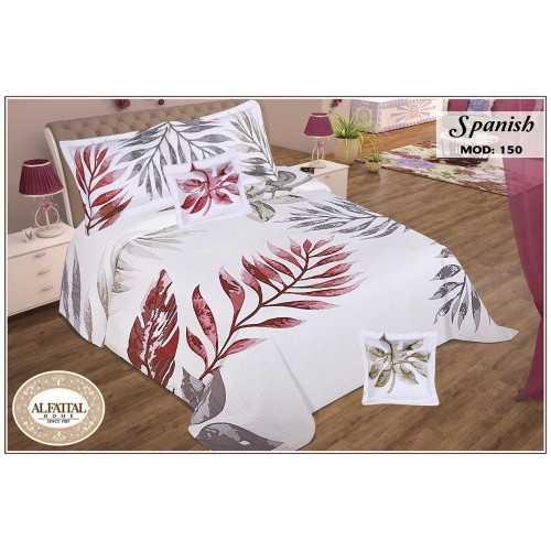 AL-FATTAL SPANISH Quilt Cotton Jacquard Filled of Fiber Size 240 cm*250 Set 5 Pieces Q150/1