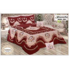 SHANELIA Quilt Jacquard Joplin Tableau Filled of Fiber Size 240 cm*250 Set 5 Pieces Q200/Q1
