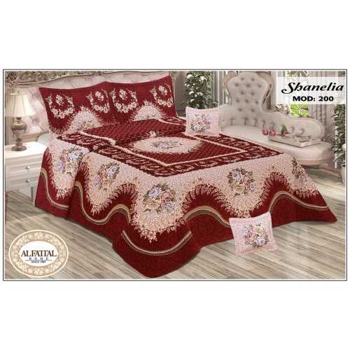 AL-FATTAL SHANELIA Quilt Jacquard Joplin Tableau Filled of Fiber Size 240 cm*250 Set 5 Pieces Q200/Q1