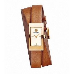 TORY BURCH Women's Watch Leather Brown Band TRB2007