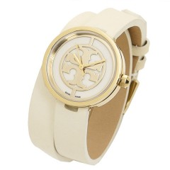 TORY BURCH Women's Watch Leather Gold Band TRB4007